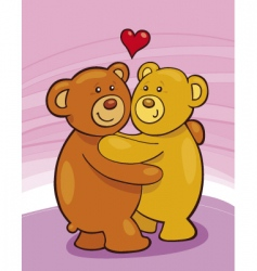 teddy bears in love vector image