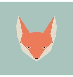 Fox face icon vector image