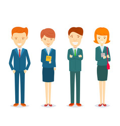 Set of businessmen and businesswomen character in vector