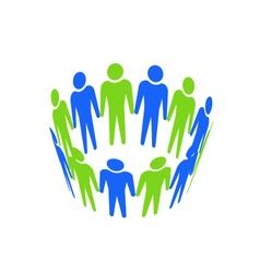 Teamwork abstract icon vector image
