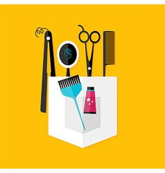 Hair stylist tools vector