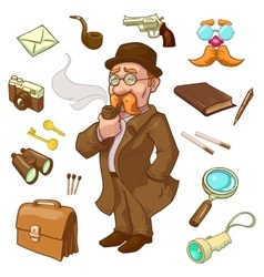 Private eye character vector