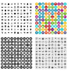 100 lending icons set variant vector