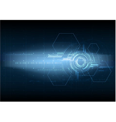 abstract high technological future interface vector image
