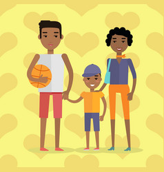 African black people afro american family vector