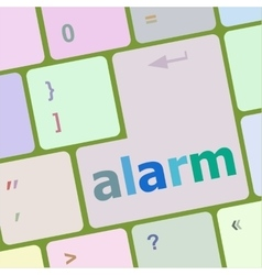 alarm button on the keyboard key vector image