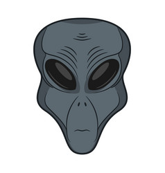 Alien face extraterrestrial head icon vector