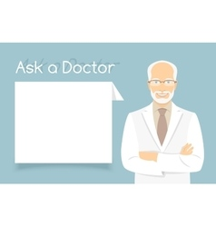 Ask a Doctor Information banner vector