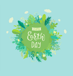 Banner for earth day for environment safety vector