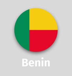 benin flag round icon vector image
