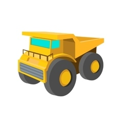 Big truck cartoon icon vector