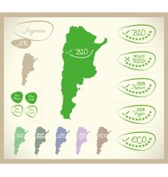 Bio Map AR Argentina vector