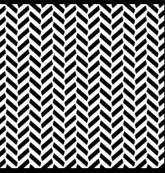 Black and white herringbone decorative pattern vector