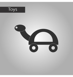 Black and white style toy turtle vector