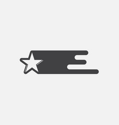 Black icon on white background star in space vector