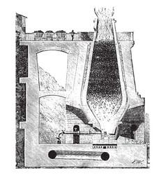Blast furnace vintage vector