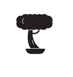 bonsai black concept icon bonsai flat vector image