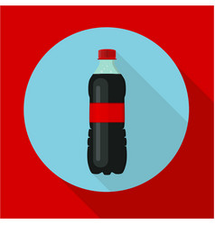 Bottle of soda water cola bottle tasty refreshing vector
