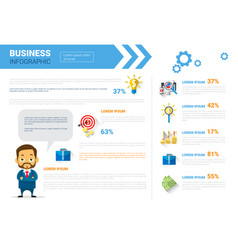 Business infographics set copy space for vector