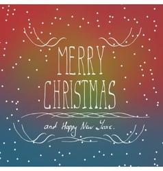 Christmas typography handwriting vector image