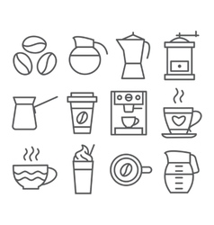 Coffee Line Icons vector