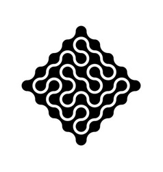 connected dots in a shape of rhombus in black vector image vector image