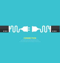 Connection concept vector