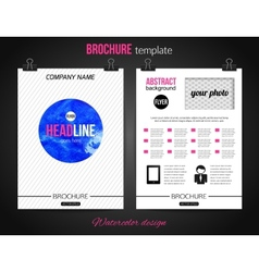 Corporate business stationery brochure templates vector image