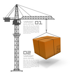 crane loading boxes vector image