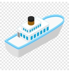 Cruise sea ship isometric 3d icon vector