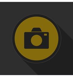dark gray and yellow icon - camera vector image