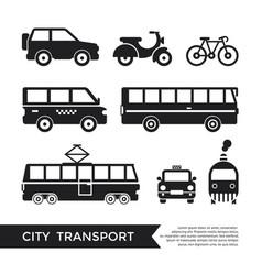 digital black city transport vector image