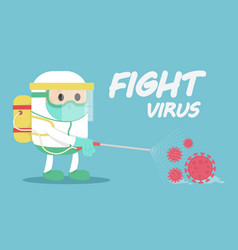 Disease control experts fighting with virus vector