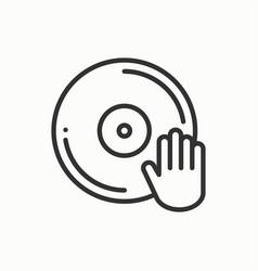 dj disk jockey turntable icon vinyl record disco vector image