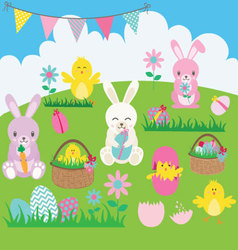 Easter Bunny set vector