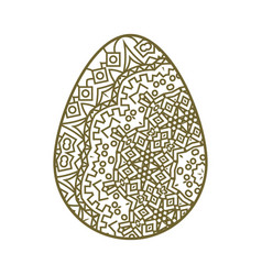 easter egg tracery vector image