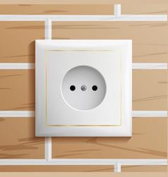 electric socket modern european plastic vector image