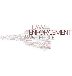 Enforcement word cloud concept vector