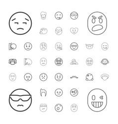 Facial icons vector
