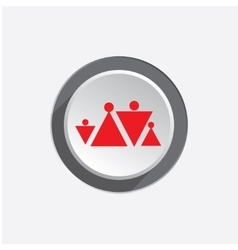 Family insurance icon People finance protection vector