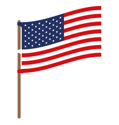 us flag on pole vector images over 120 rh vectorstock com vector usa flag pin vector us flag design