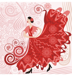 Flamenco pattern vector