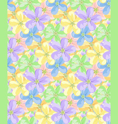 flowers for seamless pattern vector image