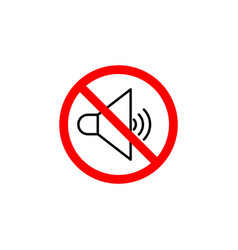 Forbidden sound icon can be used for web logo vector