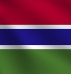 Gambia flag vector