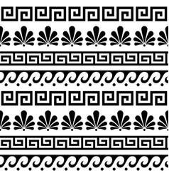 Greek ancient seamless pattern set vector