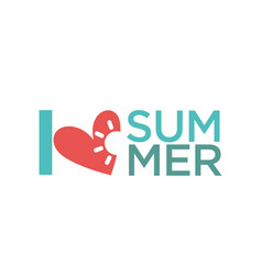 hello summer holiday logo design isolated on white vector image