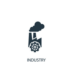 industry icon simple element vector image