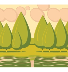 Landscape tree vector
