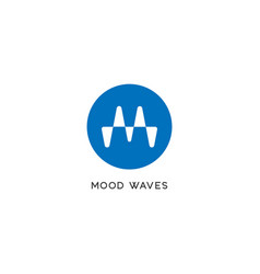 Letter m alphabetic logo liquid sound wave logo vector
